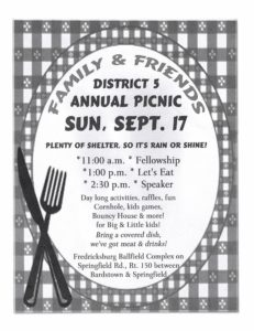 District 5 Annual Picnic @ Fredricksburg Ball Complex | Springfield | Kentucky | United States