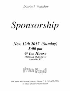 District 1 Sponsorship Workshop @ Ice House | Louisville | Kentucky | United States