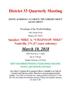 District 33 Quarterly Meeting @ Woodman of The World Building | Truth or Consequences | New Mexico | United States