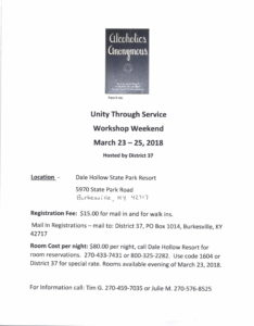 Unity Through Service @ Dale Hollow State Park Resort | Burkesville | Kentucky | United States