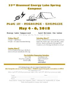 33rd Biannual Energy Lake Spring Campout @ Land Between The Lakes | Golden Pond | Kentucky | United States