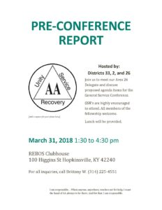 Pre-Conference Report @ REBOS Club | Hopkinsville | Kentucky | United States