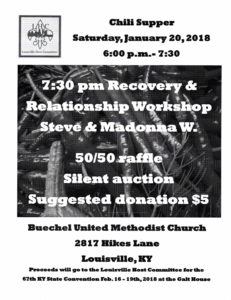 Recovery & Relationship Workshop @ Buechel United Methodist Church