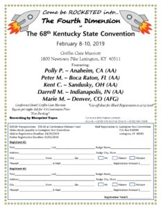 2019 Kentucky State AA Convention @ Griffin Gate Mariott