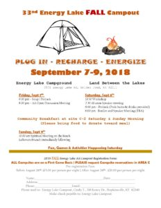 33rd Biannual Energy Lake Fall Campout @ Land Between The Lakes