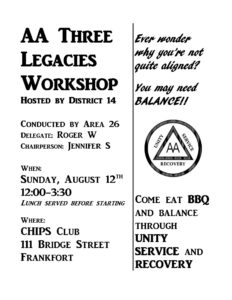 Three Legacies Workshop @ Chips Club