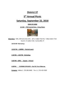 District 37 5th Annual Picnic @ Salem Park