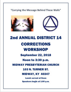 2nd Annual District 14 Corrections Workshop @ Midway Presbyterian Church