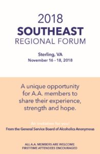 2018 Southeast Regional Forum @ Washington Dulles Airport Marriott