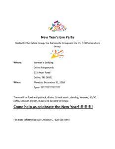 New Year's Eve Party Celina, TN @ Celina Fairgrounds ~ Women's building