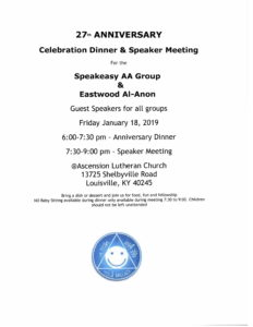 27th Anniversary Celebration & Speaker Meeting @ Ascension Lutheran Church