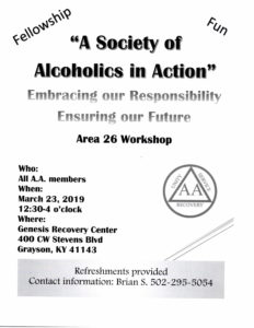 A Society Of Alcoholics In Action @ Genesis Recovery Center