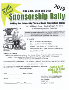 37th Annual Sponsorship Rally @ Sloan Convention Center