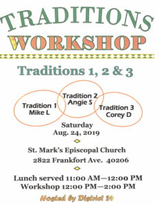 Traditions Workshop @ St Mark's Episcopal Church