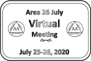Area Meeting July 25-26 (Videoconference) @ (Zoom Meeting) Request login info from: